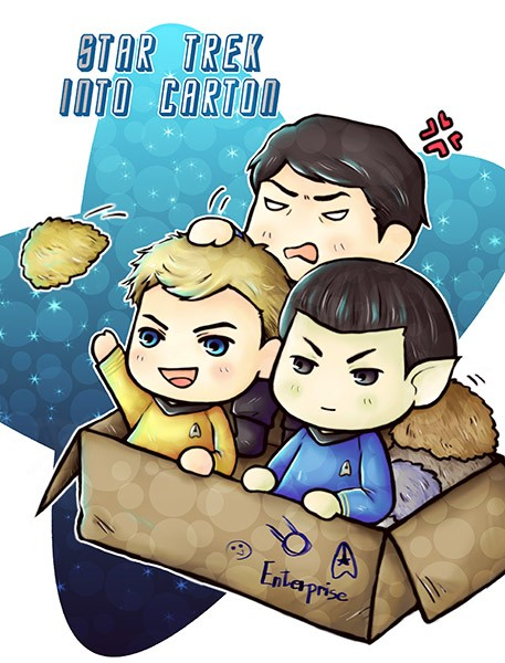 STAR TREK INTO CARTON