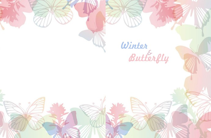 Winter and butterfly