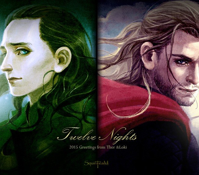 十二夜/12 Nights·2015 Greetings from Thor & Loki